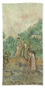 The Olive Orchard, 1889 Bath Towel