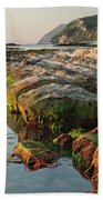 The Passetto Rocks At Sunrise, Ancona, Italy Bath Towel