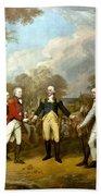 The Surrender Of General Burgoyne Bath Towel by War Is Hell Store