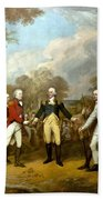 The Surrender Of General Burgoyne Hand Towel