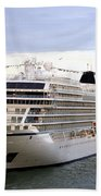 The Viking Star Cruise Liner In Venice Italy Bath Towel
