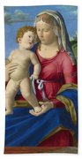 The Virgin And Child Bath Towel
