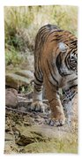 Tiger In The Woods Bath Towel
