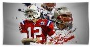 Tom Brady Patriots Hand Towel