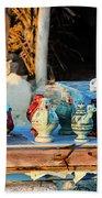 traditional tunis ceramics, Djerba, 07 Nov 2014 Bath Towel