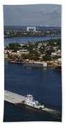 Transportation - Shipping On The Mississippi River Bath Towel