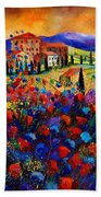 Tuscany Poppies  Bath Towel