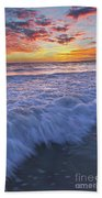 Twilight At Gale Beach In Albufeira Bath Towel
