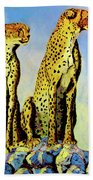 Two Cheetahs Bath Towel