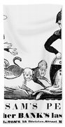 Uncle Sam Cartoon, 1840 Bath Towel