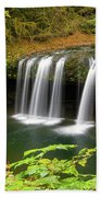 Upper Butte Creek Falls In Autumn Bath Towel
