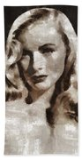 Veronica Lake Vintage Hollywood Actress Bath Towel