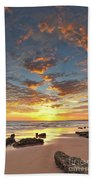 Gale Beach At Sunset. In Algarve Hand Towel