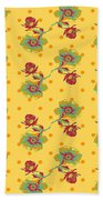 Vintage Wallpaper Seamless Rose Flower Pattern On Circles Polka  Bath Towel