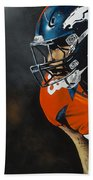Von Miller Bath Towel by Don Medina