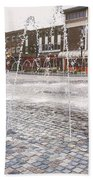 Wakefield City Centre Fountain Bath Towel