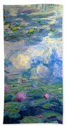 Water Lilies, Nympheas, By Claude Monet,  Musee Marmottan Monet, Bath Towel