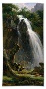 Waterfall At Mont-dore Bath Towel