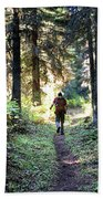 Waterton Valley Trail Detail - Glacier National Park Hand Towel