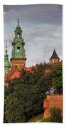 Wawel Royal Castle In Krakow Bath Towel