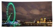 Westminster And The London Eye Bath Towel