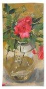 Wild Roses Bath Towel
