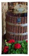 Wine And Geraniums Hand Towel