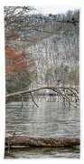 Winter Landscape At Hungry Mother State Park Bath Towel