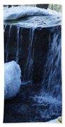 Winter Waterfall Bath Towel