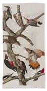 Woodpeckers Bath Towel