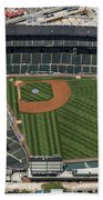 Wrigley Field In Chicago Aerial Photo Bath Towel