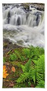 Yacolt Falls In Autumn Bath Towel