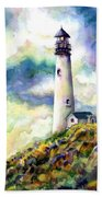 yaquina Head Lighthouse Hand Towel