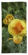 Yellow And Orange Poppy Bath Towel