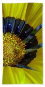 Yellow Floral Bath Towel