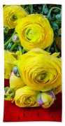 Yellow Ranunculus Bath Towel