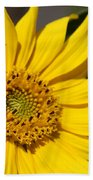 Yellow Sunflower Bath Towel