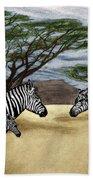 Zebra African Outback  Bath Towel
