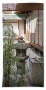 Zen Garden, Kyoto Japan Bath Towel