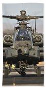 Ah-64d Apache Longbow Taxiing Bath Towel