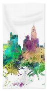 Columbus Ohio Skyline Bath Towel