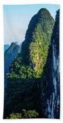 Karst Mountains And Lijiang River Scenery Bath Towel