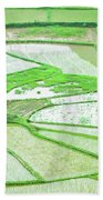 Rice Fields Scenery Bath Towel