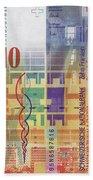 10 Swiss Franc Bill Bath Towel