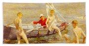 Tuke Henry Scott Ruby Gold And Malachite Henry Scott Tuke Bath Towel