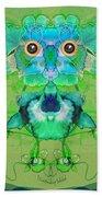 1045   Flower Owl 2017 Bath Towel
