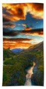 Nature Landscapes Prints Bath Towel