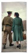 1940s Couple Bath Towel