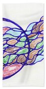 Abstract Pencil Pattern Bath Towel