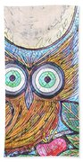 Owl Midnight Bath Towel